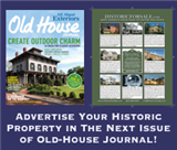 List Your Historic Property for Sale at Reduced Rate in Old-House Journal