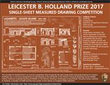 Announcing the 2017 Leicester B. Holland Prize: A Single-Sheet Measured Drawing Competition