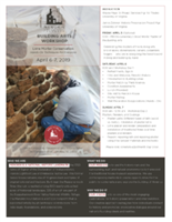 Building Arts Workshop: Lime Mortar Conservation
