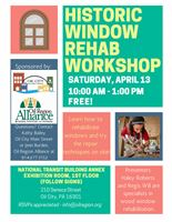 Historic Window Rehab Workshop