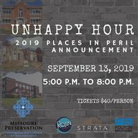 2019 Unhappy Hour; Missouri Places in Peril Announcement