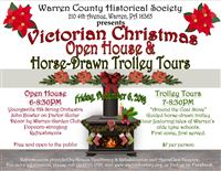 Victorian Christmas Open House & Horse-Drawn Trolley Tours
