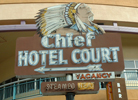Chief Hotel Court sign, Las Vegas, Nevada